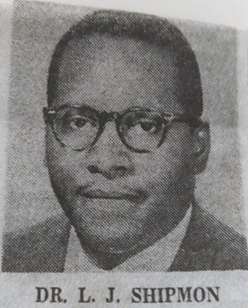 Rev. Dr. L.J. Shipman (1955-1964) photograph